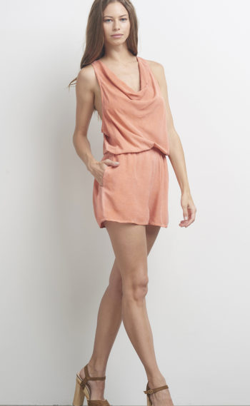 05-A16069 Cowled Romper Clay