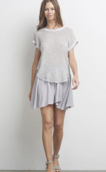 62-A11109 Bri Oro Tee Soft Grey