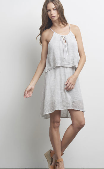 62-A14154 The Tulip Dress Soft Grey