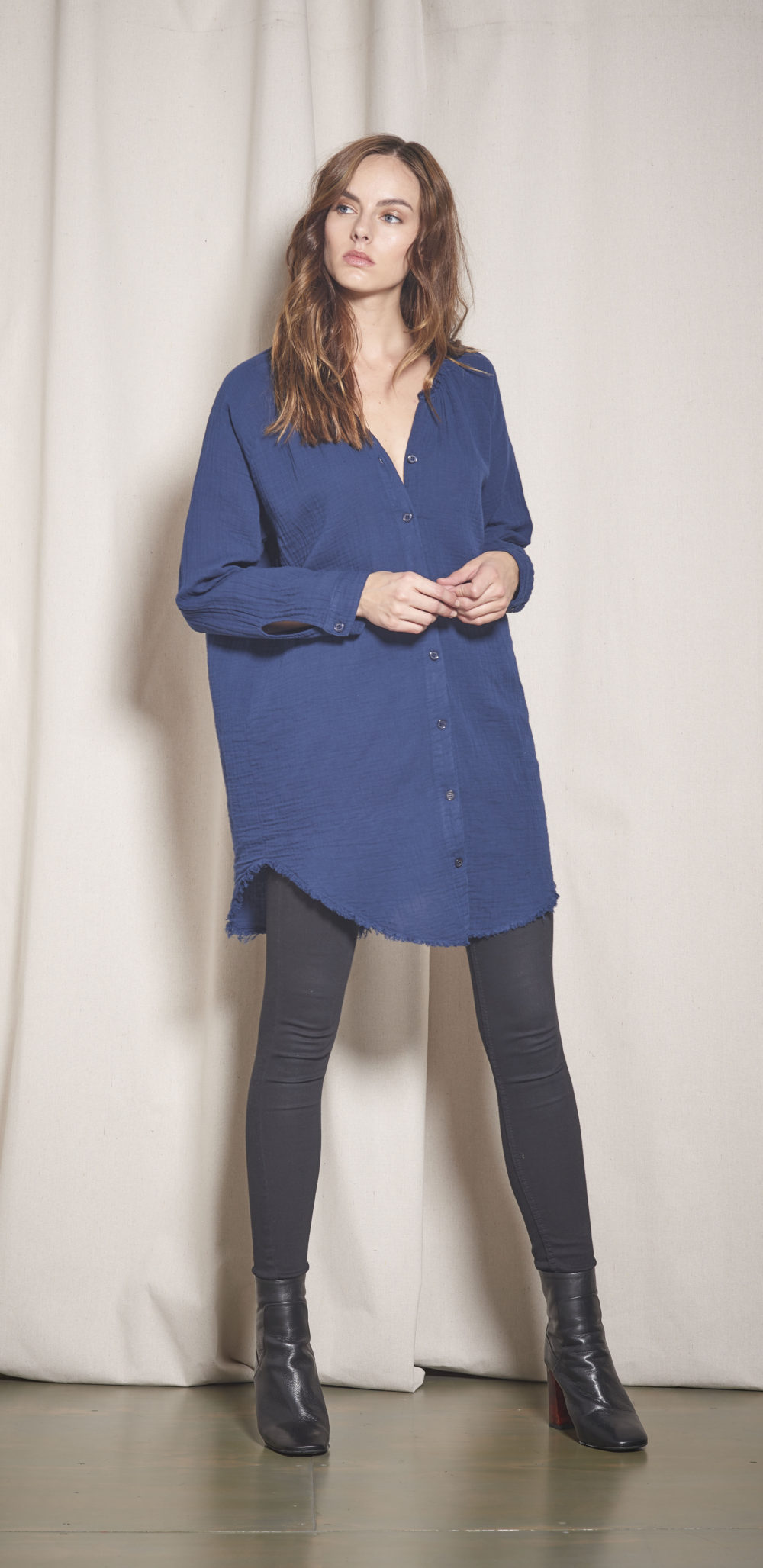 91-A13540 BOND SHIRTDRESS NAVY 4